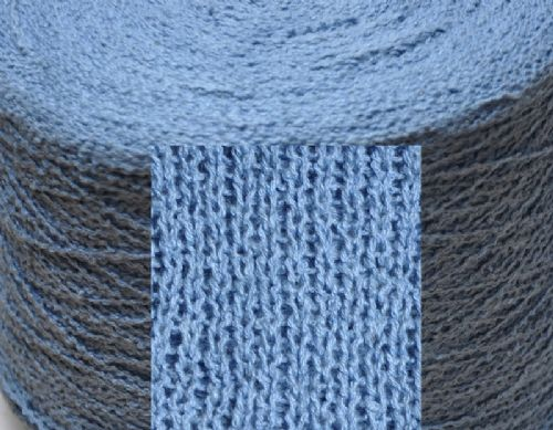 1700g Fine double knit knop mid blue Ramie and cotton mix